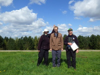 50th County Completion Mark Smith Adrian Rayner Nigel Thackrah on Ollerton Pits Wood