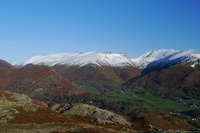 Helvellyn, Nethermost Pike, Dollywaggon Pike, Seat Sandal, Fairfield, Great Rigg, Helm Crag left foreground © Jim Fothergill